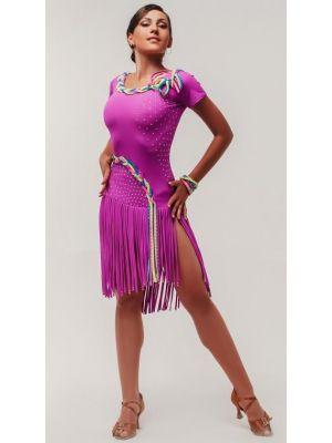 Сукня для латини з обробкою №281