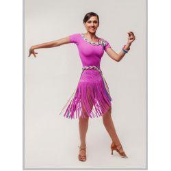Платье для латины с отделкой №281