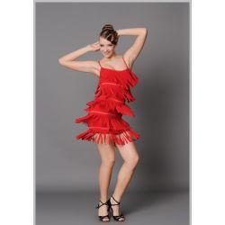 Платье латина с бахромой Fen №152