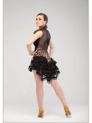 Майка жіноча для танців №347 з спиною з сітки