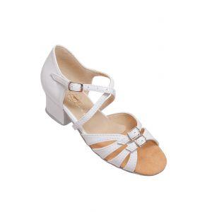 Туфлі для бальних танців на дівчинку Club Dance: Б-2 білий лак