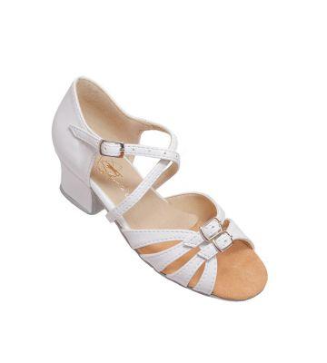 Туфли для бальных танцев на девочку Club Dance: Б-2 белый лак