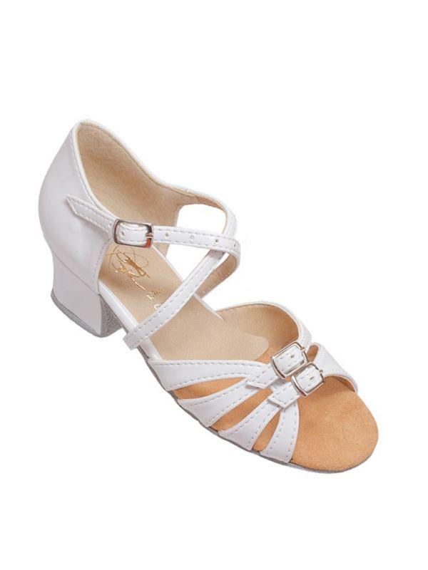 5d01c196 Туфли для бальных танцев на девочку Club Dance: Б-2 белый лак