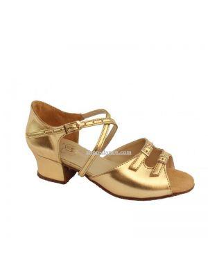 Обувь для девочек Club Dance: 73110-a золотая кожа