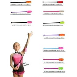 Булавы гимнастические двухцветные Masha Pastorelli, 41 и 45 см.