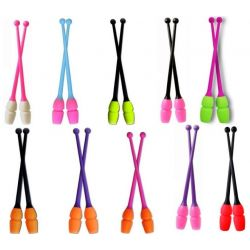 Булави гімнастичні двоколірні Masha Pastorelli, 41 і 45 см.