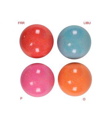 Мяч гимнастический с блестками М-20СBR,15 см SASAKI