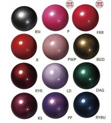 Мяч гимнастический с блестками M-207BR, 18.5 см SASAKI