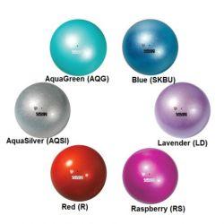 М'яч гімнастичний металік M-207M, 18.5 см SASAKI