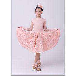 """Платье рейтинговое № 843/1 """"Аризона"""" с 2-мя юбками (набивной гипюр)"""