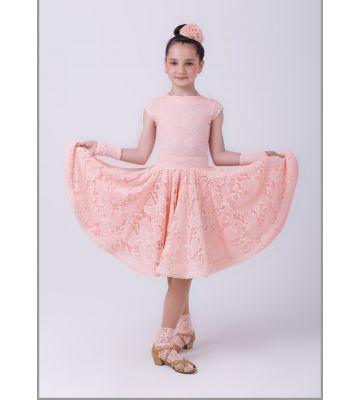 """Платье рейтинговое с двумя юбками (набивной гипюр)  № 843/1 """"Аризона"""""""