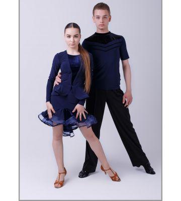 """Блуза  Fen №356/1 """"Леди"""" (отделка велюр)"""
