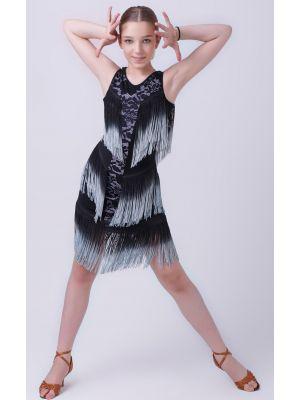 """Сукня для латини """"Апачі"""" №222 (з гіпюром)"""