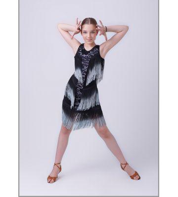 """Платье для латиноамериканских танцев """"Апачи"""" №222 (с гипюром)"""