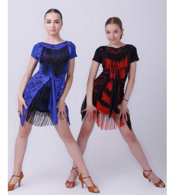 "Сукня ""Мозаїка"" №224 (бахрома спектр)"