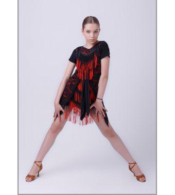"""Платье """"Мозаика"""" №224 (бахрома спектр)"""
