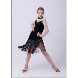 """Платье латина с отделкой """"Манхэттен"""" №286"""