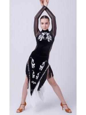 """Сукня для латиноамериканських танців без каміння """"Кутаїсі"""" №287/1"""