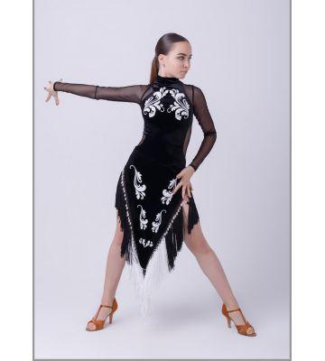 """Платье для латиноамериканских танцев без отделки """"Кутаиси"""" №287/1"""