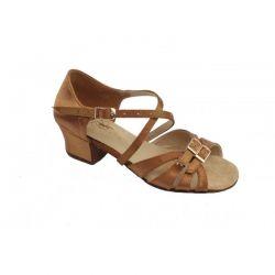 Туфлі для бальних танців на дівчинку Club Dance: Б-2 бежевий сатин