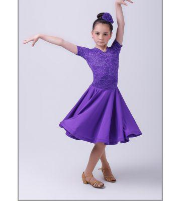Платье рейтинговое №862 (мысик, набивной гипюр)