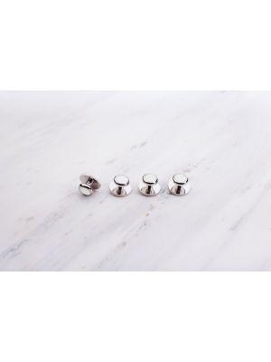 Пуговицы фрачной рубашки, серебро/перламутр белый Chrisanne Clover