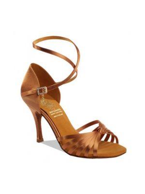 Взуття жіноче для латини Supadance 1166, Dark Tan Satin