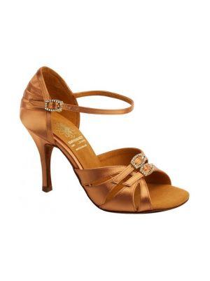 Обувь женская для латины Supadance 1057, Dark Tan Satin