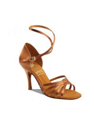 Обувь женская для латины Supadance 1143, Dark Tan Satin