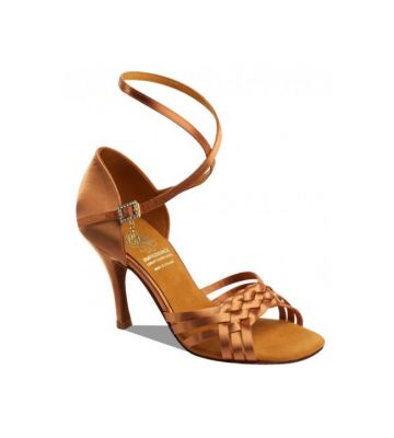 Обувь женская для латины Supadance  1178, Dark Tan Satin