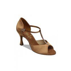 Взуття жіноче для латини Supadance 1 029, Dark Tan Satin