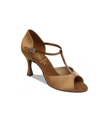 Обувь женская для латины Supadance 1029, Dark Tan Satin