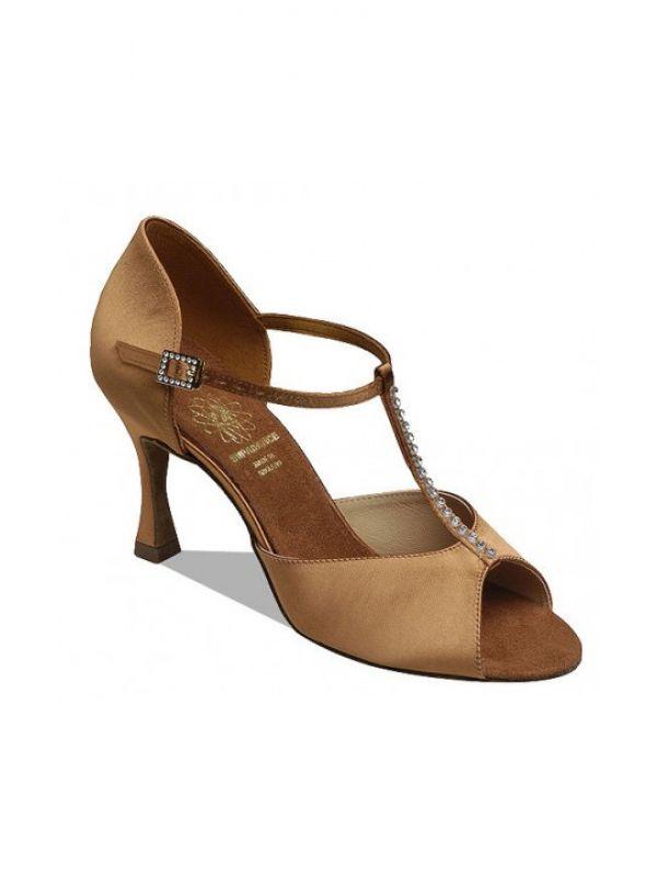 49db8a0f22c425 Взуття жіноче для латини Supadance 1 029, Dark Tan Satin