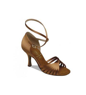 Обувь женская для латины Supadance  1063, Dark Tan Satin