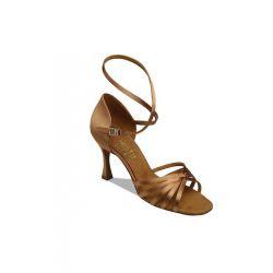 Обувь женская для латины Supadance 1403, Dark Tan Satin