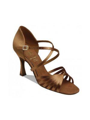 Обувь женская для латины Supadance 1066, Dark Tan Satin