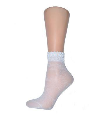 Носочки белые капроновые танцевальные