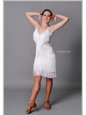 Платье для латины с бахромой № 201