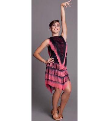 Сукня (сарафан) для танців бахрома однотон № 214/1