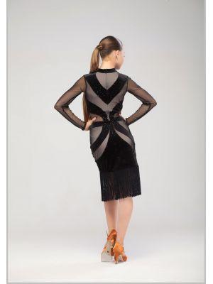 Платье для латины с бахромой № 219/1