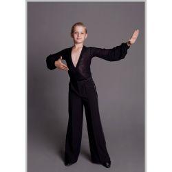 Штаны для танцев мужские с защипами № 909 (без лампасов)