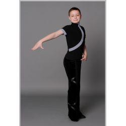 Брюки танцевальные для мальчиков с велюром №904