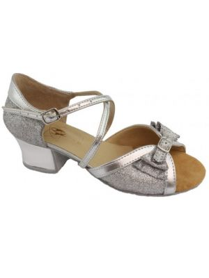 Танцювальні туфлі девачковие Club Dance: Б-4 срібна шкіра з блискітками