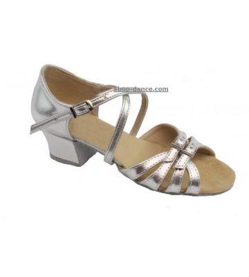 2e2f2c0fd Туфли для бальных танцев на девочку Club Dance: Б-2 кожа серебро ...