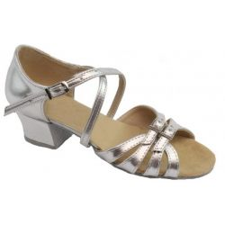 Туфлі для бальних танців на дівчинку Club Dance: Б-2 шкіра срібло