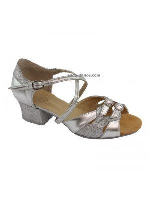 Обувь для девочек Club Dance: Б-3 серебро+блестки