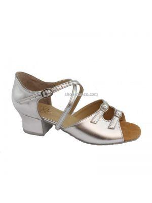 Взуття для дівчаток Club Dance: 73110-б срібна шкіра
