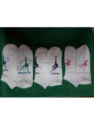Шкарпетки гімнастичні білі