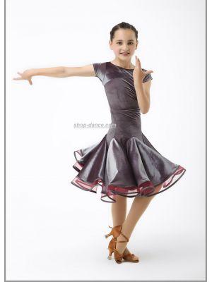 Платье рейтинговое (бейсик) №876 (велюр)