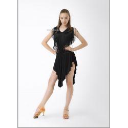 Блуза танцевальная №368/1 (бахрома черн.)